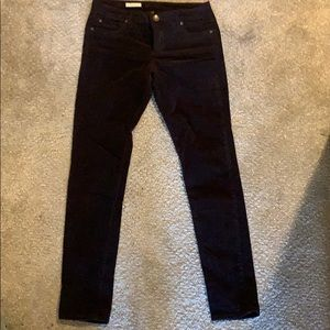 Dark brown corduroy skinny jeans